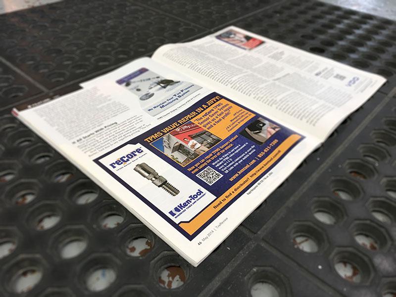 Ken-Tool reCore Trade Publication Ad