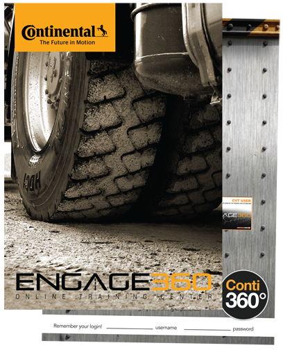 Engage360 Training Program Commercial Truck Tire Promotional Postcard
