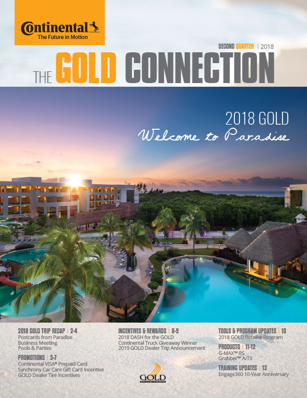 Continental Tire GOLD Connection Newsletter