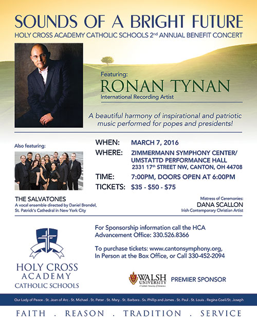 Holy Cross Academy Benefit Concert Full-Page Ad