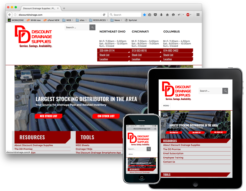 Discount Drainage Supplies Website