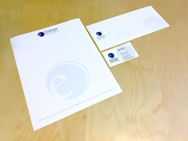 Entrust Medical Billing Letterhead/Business Card/Envelope