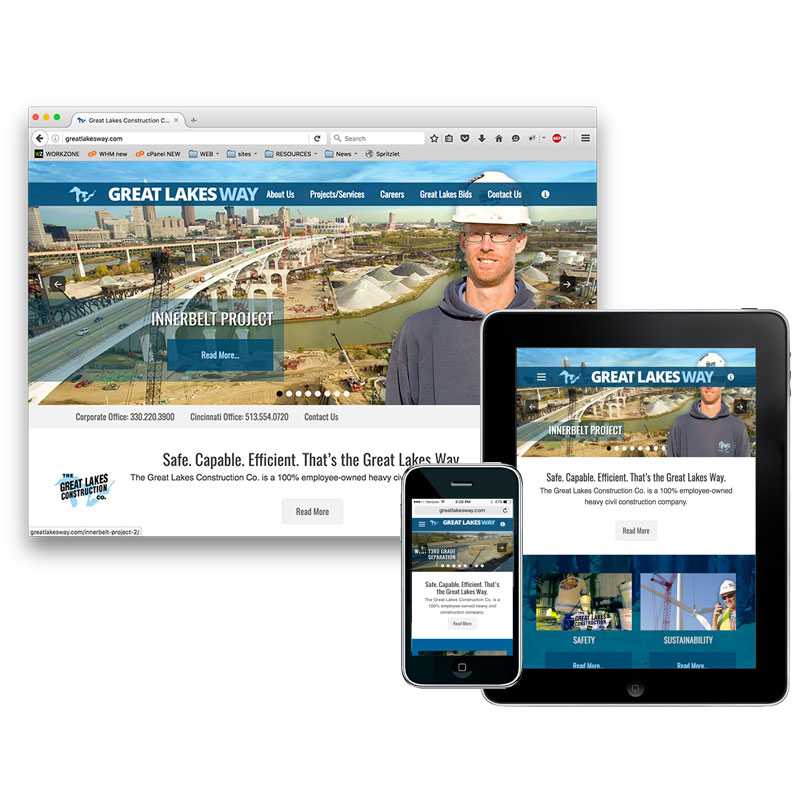 The Great Lakes Construction Co. Website