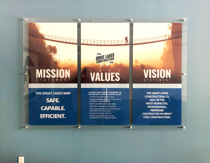 The Great Lakes Construction Mission Statement Poster